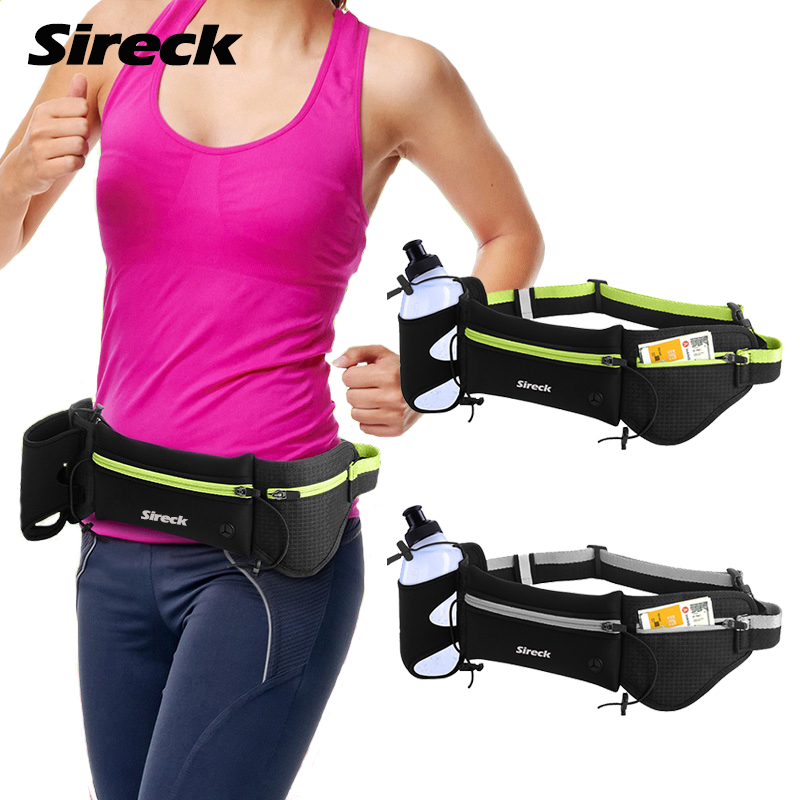 Sireck Running Bag Men Women Sport Running Hydration Belt Water Bottle Holder Waist Bag Trail Running Sports Bag Run Accessories кардиометр running