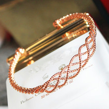 Woven mesh bracelet accessories contracted personality exaggerated fashion bracelets sweet female temperament