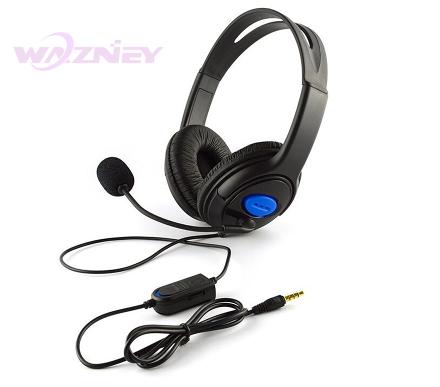 Wired Gaming Headset Earphones Headphones with Microphone Mic Stereo Supper Bass For Sony PS4 PlayStation 4