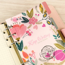 A5 A6 A7 Spiraal Notebook Losbladige Transparante PP Separator Pages Bloemen 5 lakens Aparte Match filofax Kikkik(China)