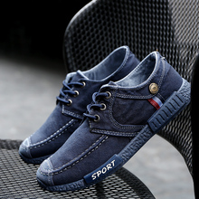 2017 spring Non-leather Casual Shoes Canvas Rubber Men Shoes Breathable Gumshoe Designer Male Footwear Denim Plimsolls size39-44