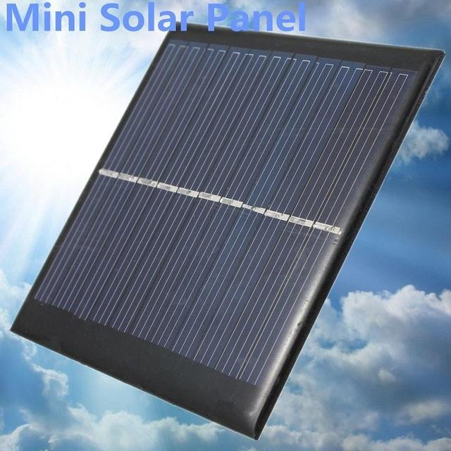 BCMaster 6V 1W Solar Power Panel Solar System Module Home DIY Solar Panel For Light Battery Cell Phone Chargers Home Travelling