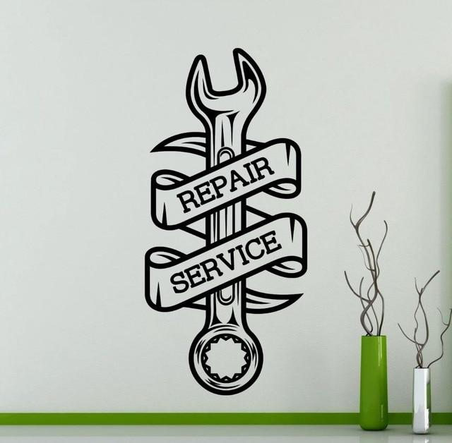 Car repair service wall sticker home decor living room car workshop logo vinyl wall decal waterproof