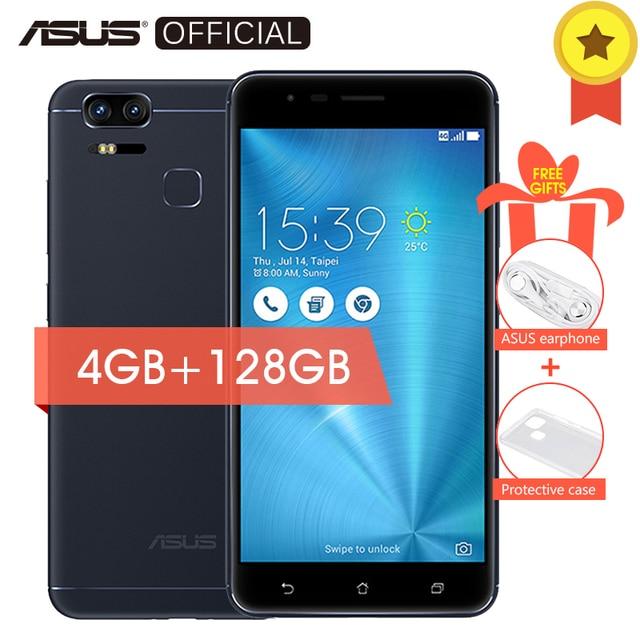 Оригинальный Asus Zenfone 3 зум ze553kl двойной 12 МП отпечатков пальцев Android 6.0 Snapdragon 625 Octa 4 ГБ Оперативная память 128 ГБ встроенная память 5000 мАч смартфон