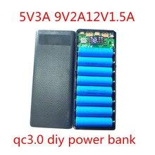 Hızlı şarj 3.0 güç bankası 18650 kılıf QC3.0 5V 9V 12V lityum pil tutucu hızlı şarj kutusu kabuk DIY kiti