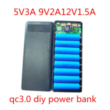 quick charge 3.0 power bank 18650 case QC3.0 Power Bank 5V 9V 12V DIY