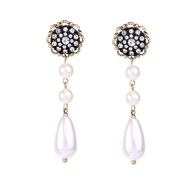 Modern Wedding Jewelry Fashion Acrylic Pearl Water drop Earrings