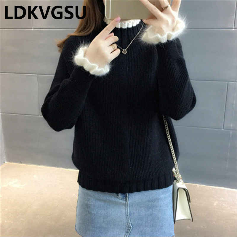 セーターの女性 2018 冬タートルネックプルオーバートップファム秋服ファッション韓国セーター Feminina 基本 Is1044 トップス