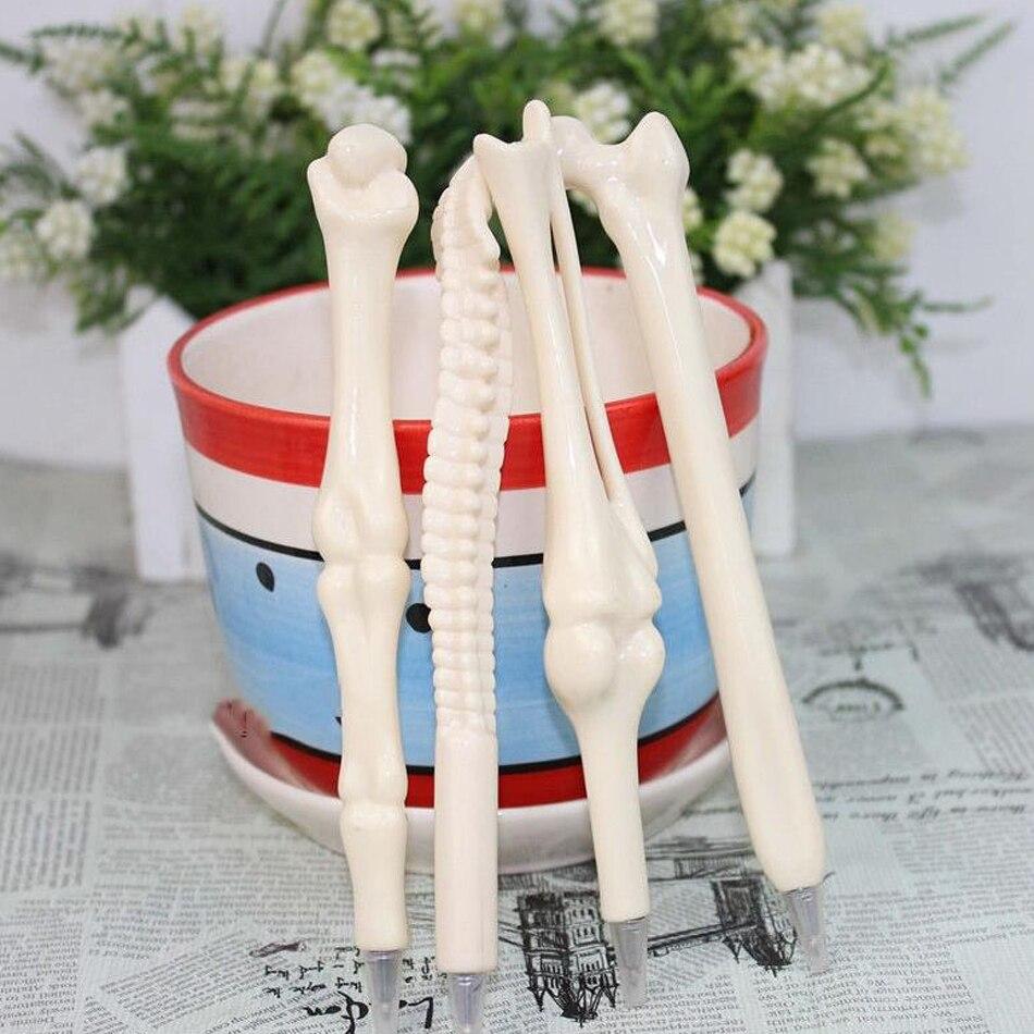 5pcs/lot Syringe Pen Writing Supplies Bone shape ballpoint pens Wholesale New creative...
