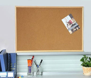 Cork-Board Display Hanging Notice Wall-Mounted Wood NNRTS Pushpin Office-Supplies New