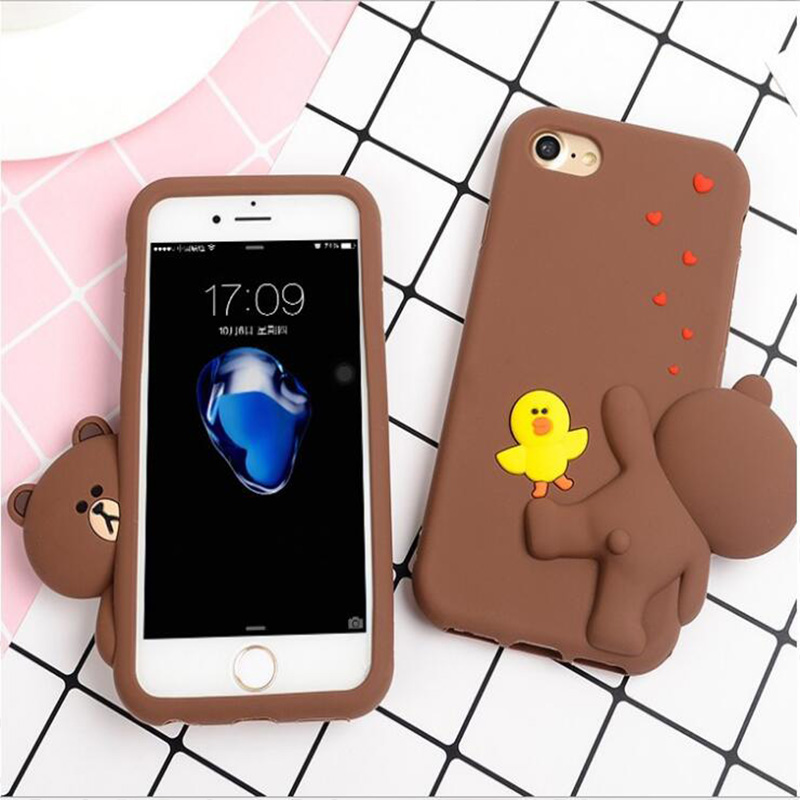 Pies Bears For Iphone6 6s 6p 6splus Three Dimensional Cute Little