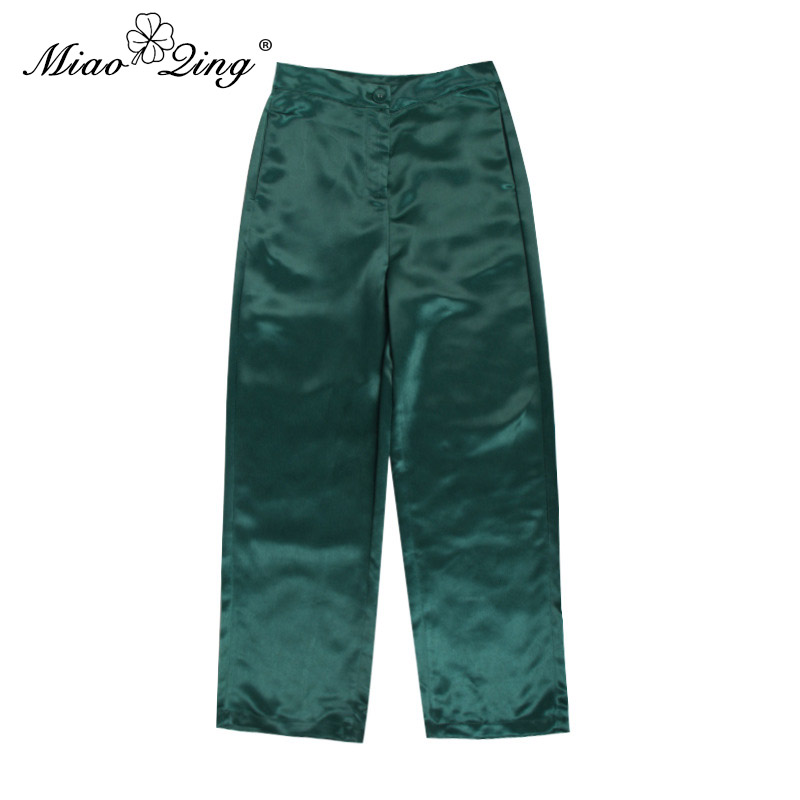 Top Long Bandage Blazer Ensembles 2 Up Vêtements Et Casual Gland Femmes Miaoqing Vert Large Pantalon Pièce Dentelle Jambe Set jaune qtw7p7a