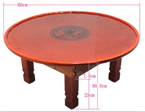 Mesa Dobrável Mesa de Café coreano Perna Rodada 60 cm Asiático Antigo Piso Mobiliário Mesa para sala de Jantar Sala de estar Tradicional Mesa De Madeira