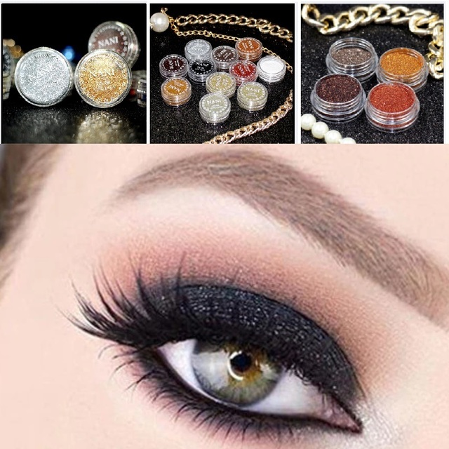 a73411830a US $0.36 35% OFF|Monochrome 24 Color Glitter Eyes Palette Maquillaje Eyes  Shimmer Powder Makeup Tool Festival Face Gems Cosmetic TSLM1-in Body  Glitter ...
