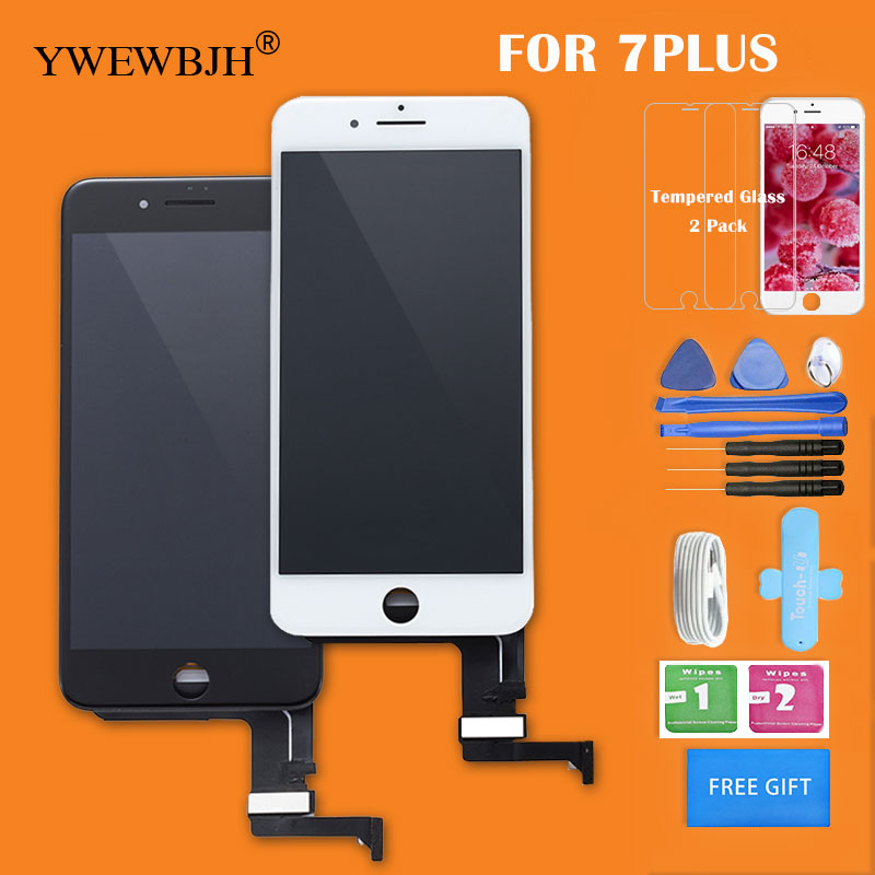 YWEWBJH Grade AAA LCD Screen For iPhone7G 7 Plus 8G 8 Plus Replacement With 3D Touch Screen Digitizer Assembly Free Gift