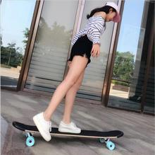 107 CM Small Skate Board Canadian Maple Longboard Skateboard Cruiser Four Wheels Street Deck Dancing Balance Board цена