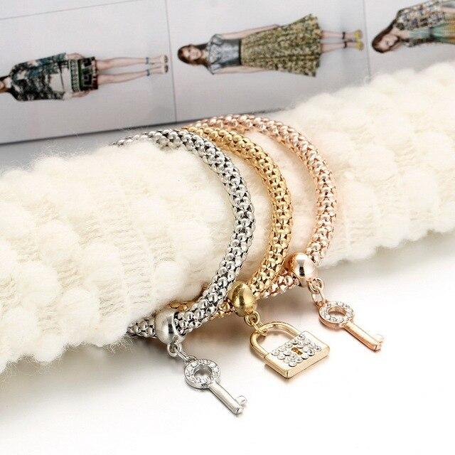 Лидер продаж 3 шт браслет в виде слона золотой кристалл якорь