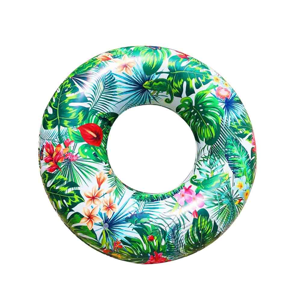 Inflatable Swim Ring Tropical Rainforest Children PVC Swimming Ring Swimming Pool Inflatable Float Circle For Adult