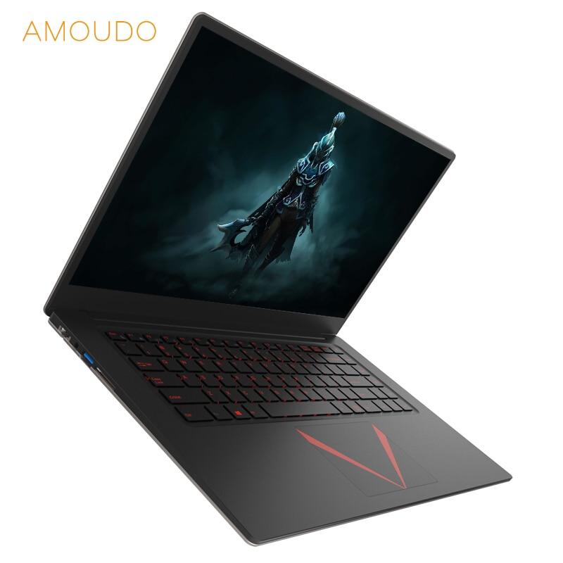 AMOUDO 15.6inch 6GB RAM+128GB SSD+500GB HDD Windows 10 Intel Quad Core CPU 1920*1080 FHD IPS Screen Laptop Notebook Computer