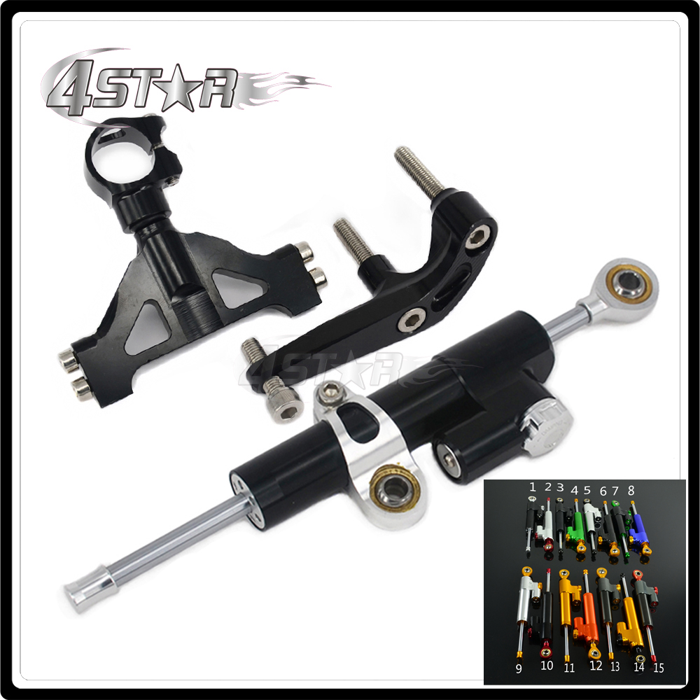 Motorcycle Steering Damper Stabilizer & Bracket For KAWASAKI ZX14R ZX-14R 2006 2007 2008 2009 2010 2011 2012 2013 2014 2015 aftermarket free shipping motorcycle parts for motorcycle 2006 2007 2008 2009 kawasaki zx14 zx14r zx 14r axle caps covers chrome