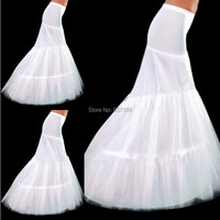 2017 New Hot Sale In Stock Petticoat 2 Hoops White Mermaid Wedding Dress Crinoline Slip Cheap and Good Quality Accessories