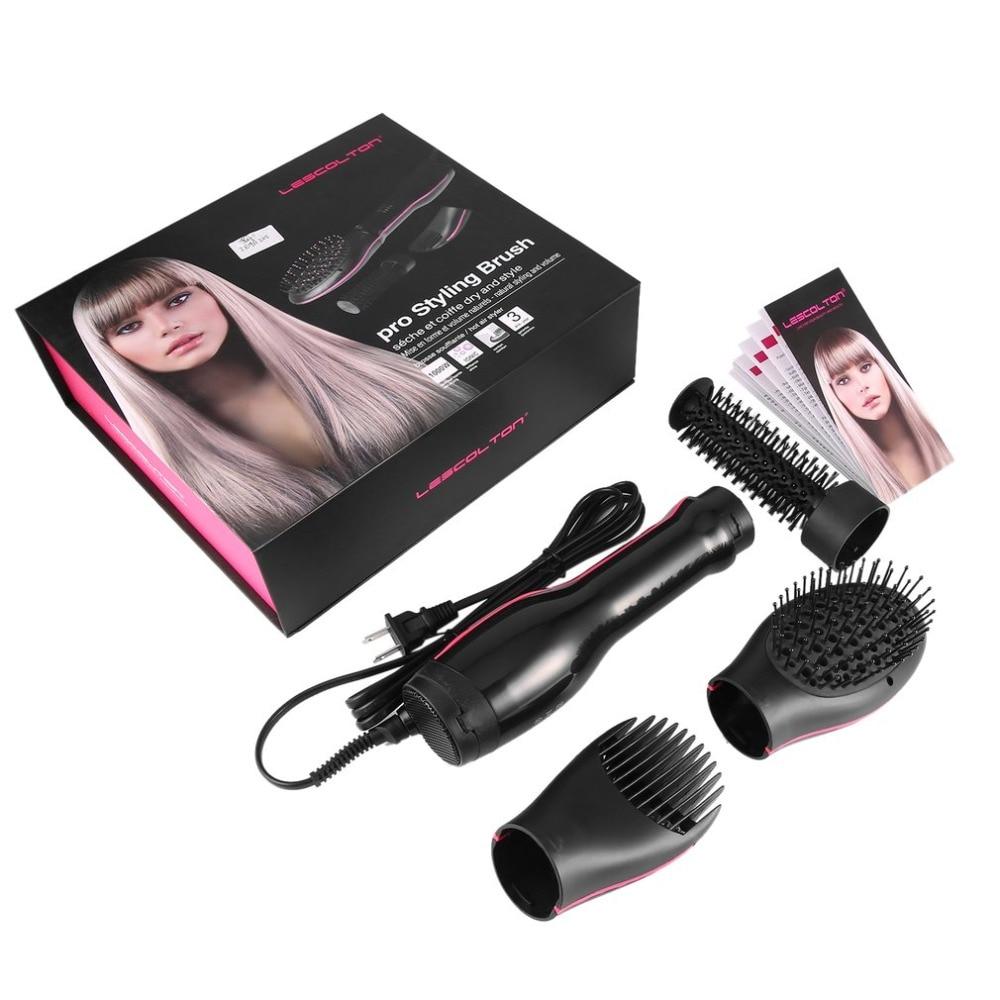 Lescolton tres-en-uno Electric styling Cepillos pelo Cepillos con cerdas con punta de bola secador de pelo y Styler Y peine