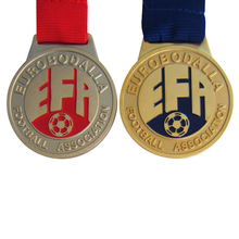 Promotional High Quality Enamel Metal Football Association Sport Medals