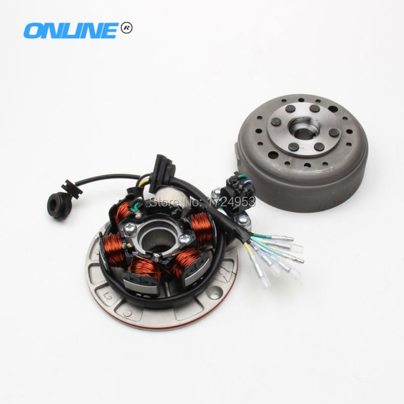 Magneto Stator Rotor Kit with Light FIT Chinese YX YINXIANG 140cc Horizontal Engine Dirt Pit Bike spare Parts yinxiang yx140 140cc engine clutch assembly yx 140 oil cooled engine parts chinese kayo apollo bse xmotos dirt bike pit bike