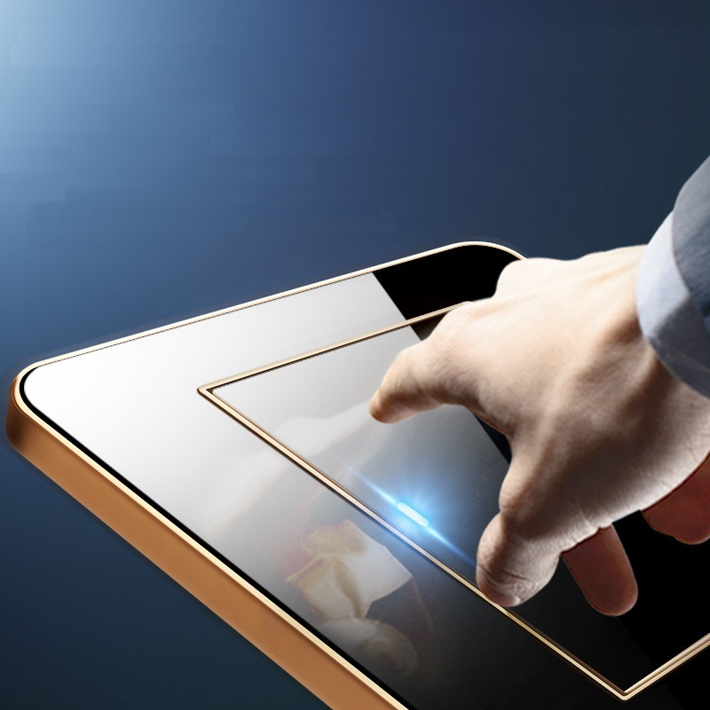 все цены на Any Point Click Wall Switch 1 Gang 1 Way/ 2 Way Clicky Switch Acrylic Crystal Mirror Panel LED Indicator Light онлайн