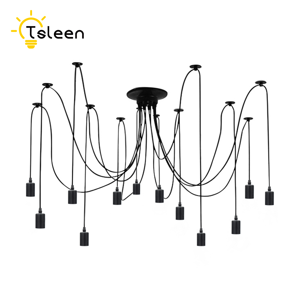 Tsleen factory price pendant lights vintage hanging led lamp edison fixtures spider ceiling lampe fixture light for home kitchen