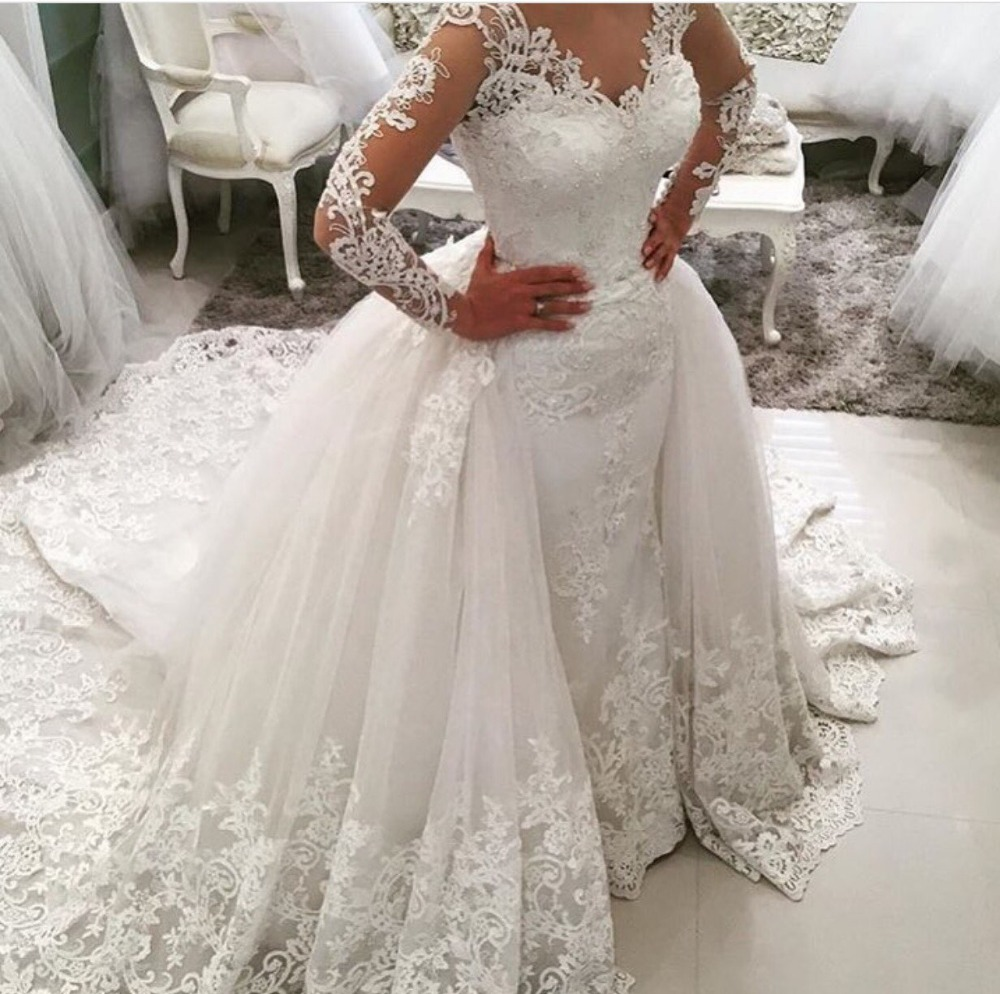 vestido de noiva elegant lace appliques cap sleeve wedding dresses a line bridal gowns denias