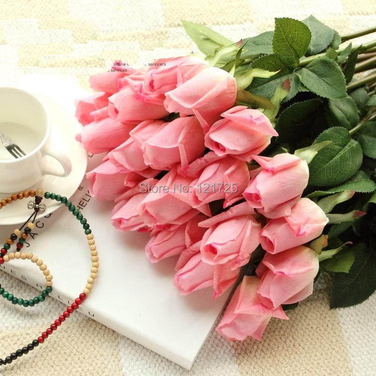 무료 배송 신선한 장미 인공 꽃 진짜 터치 장미 꽃, 웨딩 파티 또는 생일에 대한 가정 장식 (11pcs / Lot)