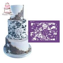 Variegated Cake Stencil Mesh Stencils for Wedding Cake Border Stencils Fondant Mould Cake Decorating Tool Cake Mold