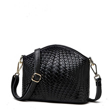 Cowhide Weave Grain Shell Korean Single Shoulder Package Genuine Woman Oblique Satchel Packet