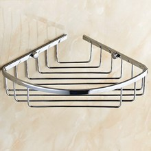 Chrome Bathroom Corner Storage Rack Organizer Shower Wall Shelf Shelves Basket Kba709
