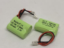 2PACK/LOT Brand New Ni-MH 2/3AAA 2.4V 500mAh 2/3 AAA Rechargeable Battery Cordless Phone Batteries Pack With Plugs