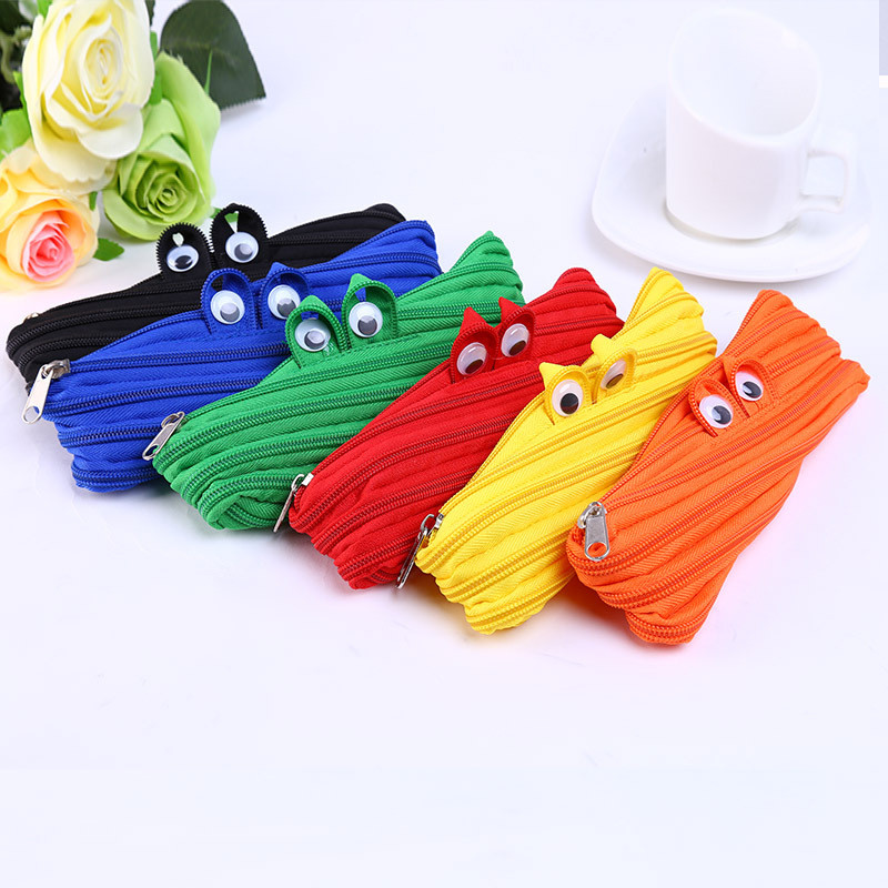Korean Creative Large Canvas Pencil Case Lovely Cute Student Funny Stationery Store Pen Bag Pouch School Holder Pencilcase Item