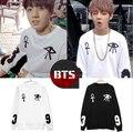 Moda kpop bts bangtan niños rap monstruo jung kook mismo pestañas imprimir sudadera para hombres/mujeres o cuello de jersey sudadera con capucha plus tamaño