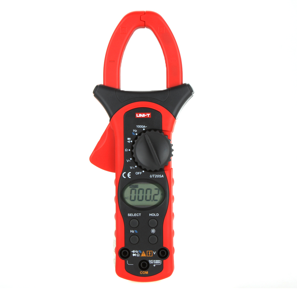UNI-T UT205A LCD Backlight Auto Range 1000A Digital Clamp Meters Ammeter  w/ Frequency Duty Cycle Test Multimeter  цены