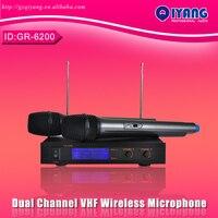Freeboss GR 6200 Dual Channel cheap microfone professional ktv karaoke VHF mic Wireless Microfono Karaoke system GR 6200