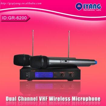 Freeboss GR-6200 Dual Channel cheap microfone professional ktv karaoke VHF mic Wireless Microfono Karaoke  system GR-6200