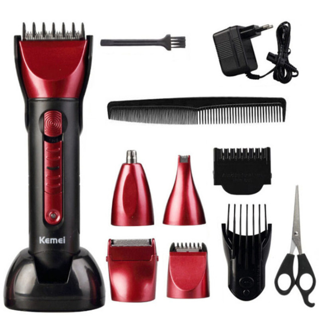 Electric Hair Clipper 3 In 1 Multi-functional Hair Cutting Machine Cordless Beard & Nose Hair Trimmer Rechargeable Hair Clippers