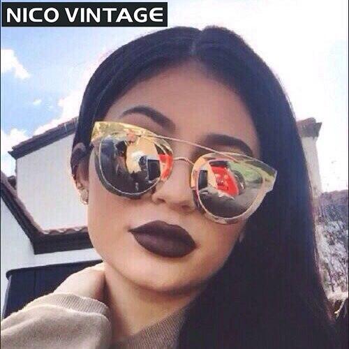 Rose Gold Mirror Women Sunglasses Aviator Luxury Brand