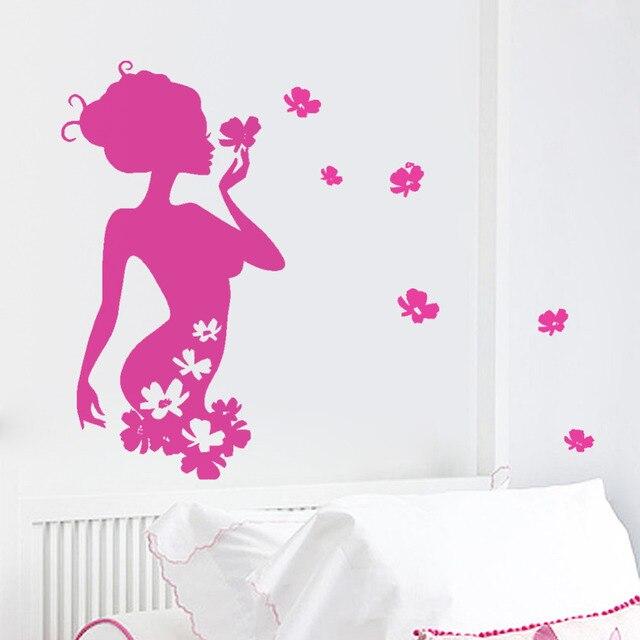 Women Beauty Salons And Barber Shops Butterflies Kids Wall Stickers Girls Home Decoration Wall Art Decor