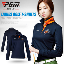 pgm golf clothes golf women's long-sleeve POLO shirt autumn and winter Korean shirts