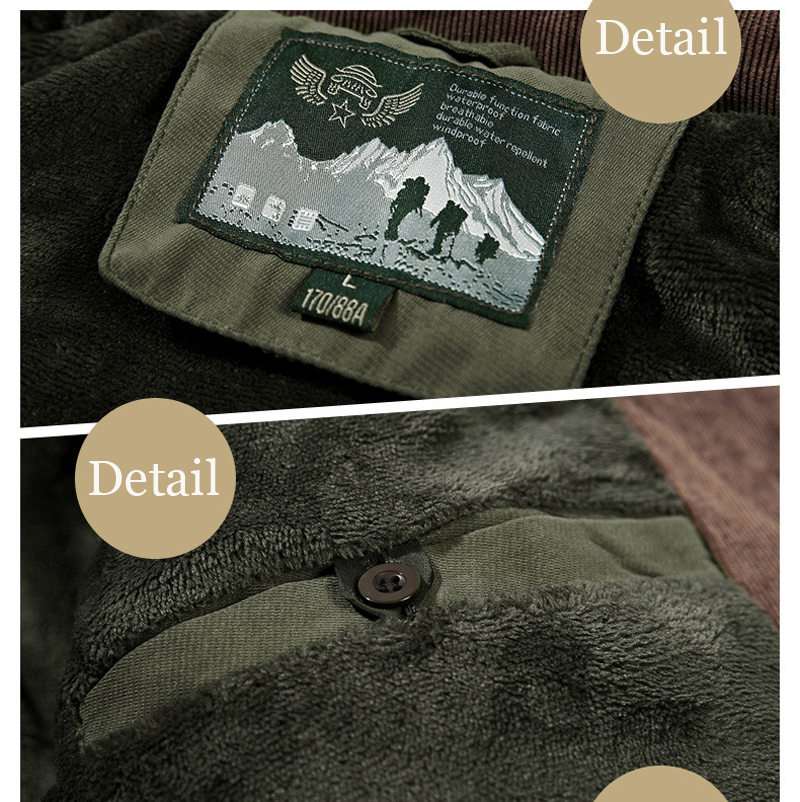 High Quality Men's Windbreaker Fleece Cotton Winter Jacket 10