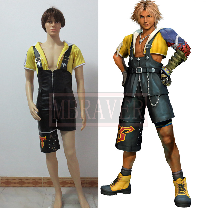final fantasy x tidus cosplay costume halloween costumes with free shipping