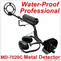 Новейший полный водостойкий металлический детектор Professional подводный металлический детектор MD 7020C золотой детектор Охотник за сокровищами