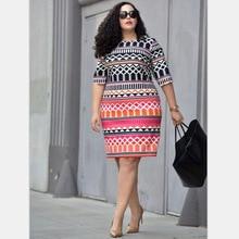 Big Size Women Dresses Bohemian Printing Summer O-neck Dress Fat MM Casual Clothing Elegant Ladies Plus Size 5XL Party Dresses