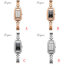 2017 New Luxury LVPAI Fashion Ladies Women Unisex Stainless Steel Rhinestone Quartz Brand Wrist Watch Dropshipping